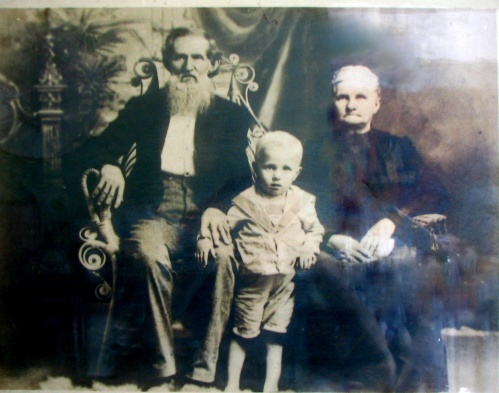 John Thomas and Aletris with a grandchild