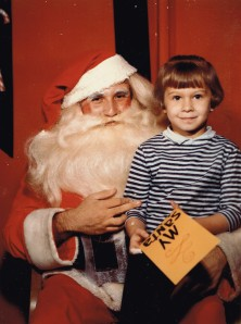 Santa and me at D.H.Holmes in Delmont Village in 1967